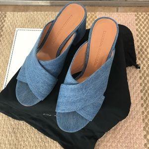SIGERSON MORRISON Denim Sandals Size 36.5